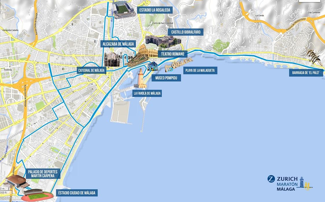 Mapa Turistico De Malaga.02 Mapa Turistico Malaga Bichos Runners
